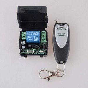 lejin DC 12V 10A 1canal sans fil RF télécommande Interrupteur émetteur récepteur pour système de contrôle Access/Porte lampe volet roulant porte de garage émetteur manuel ouverture de porte Commande à distance de la marque Lejin image 0 produit