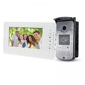 LIBO 7 Pouces Filaire Couleur vidéo Porte téléphone interphone système vidéo Sonnette intérieure Moniteur caméra avec 25 Sonnerie pour Appartement sûr de la marque LIBO Smart Home image 0 produit