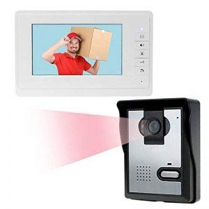 LIBO 7 Pouces Filaire Maison vidéo interphone de Porte Sonnette IR Vision Nocturne 25 sonneries IP54 imperméable à l'eau pour système de Porte d'entrée de Serrure de la marque LIBO Smart Home image 0 produit