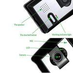 LIBO 7 Pouces Filaire Maison vidéo interphone de Porte Sonnette IR Vision Nocturne 25 sonneries IP54 imperméable à l'eau pour système de Porte d'entrée de Serrure de la marque LIBO Smart Home image 4 produit