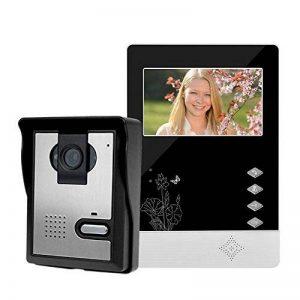 LIBO Filaire Maison vidéo interphone Sonnette 4.3inch Vision Nocturne Infrarouge 25 sonneries IP54 étanche pour système d'entrée de Porte de la marque LIBO Smart Home image 0 produit