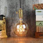 LighitngDesigner Edison Classique LED Ampoule G125 4W Dimmable Style Vintage 220 / 240V E27 (Ambre) de la marque LightingDesigner image 1 produit