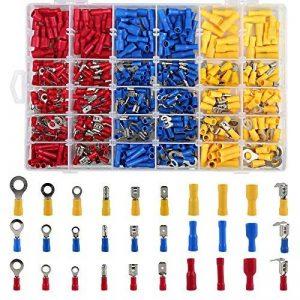 LIHAO Coffret Assortiment 480 Cosses Electriques Connecteurs Simple Sertissage avec Boîte de Rangement de la marque LIHAO image 0 produit