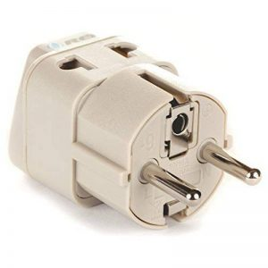 LiteFuze Grounded Universal 2 in 1 Schuko Plug Adapter Type E/F for Germany, France, Europe, Russia & more - High Quality - CE Certified - RoHS Compliant WP-EF-GN de la marque OREI image 0 produit