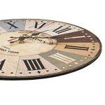 LOHAS Home 30cm Vintage Horloge Murale Rustique, silencieuse en Bois Cadran Horloge minuteur pour la Maison Salon Chambre Bureau Café Bar Decor (Vieille Ville) de la marque LOHAS Home image 2 produit