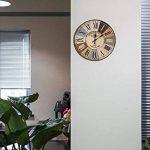 LOHAS Home 30cm Vintage Horloge Murale Rustique, silencieuse en Bois Cadran Horloge minuteur pour la Maison Salon Chambre Bureau Café Bar Decor (Vieille Ville) de la marque LOHAS Home image 1 produit