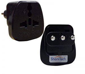Lot de 2 adaptateurs de voyage ShaniTech - type L - adaptateurs secteur convertisseur AC - prise de courant aux normes pour l'Italie, Uruguay, San Marino Qty. 1 Noir de la marque ShaniTech image 0 produit
