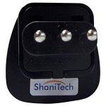 Lot de 2 adaptateurs de voyage ShaniTech - type L - adaptateurs secteur convertisseur AC - prise de courant aux normes pour l'Italie, Uruguay, San Marino Qty. 1 Noir de la marque ShaniTech image 2 produit