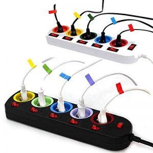 Lot de 2 - Bloc Multiprise Couleur - Interrupteur pour Chaque Sortie + Stickers de la marque Fishtec image 0 produit