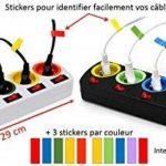 Lot de 2 - Bloc Multiprise Couleur - Interrupteur pour Chaque Sortie + Stickers de la marque Fishtec image 1 produit