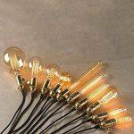 Lot de 2vintage Laiton support de lampe commutateur ampoule prise de finition pour E27avec ON/OFF de la marque ktjes image 1 produit