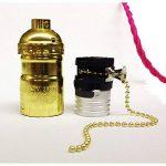 Lot de 3 douilles Gold de type E27 vintage avec interrupteur à chaînette de la marque Desineo image 1 produit