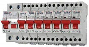 Lot de 7 disjoncteurs NF 3kA - 2x10A - 2x16A - 2x20A - 1x32A + 1 inter différentiel 40A AC de la marque Finatech image 0 produit