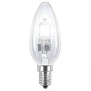 Lot de 818W C35(SES) Petit culot à vis Edison (E14) Eco Halogène Dimmable ampoule lampe Bougie, 18W équivalent à 25W, 2000heures Durée de vie ampoules halogènes, 205lumens. de la marque TIGER LIGHTING image 0 produit