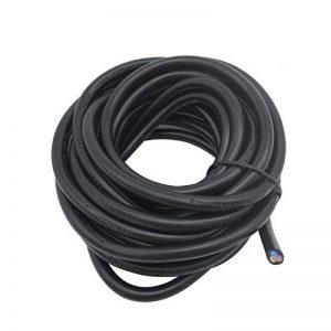 Lumenty 3Core ronde PVC Noir secteur électrique câble 3x 0,75mm² Fil électrique–5metre Longueur de coupe de la marque LumenTY image 0 produit