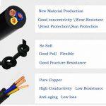 Lumenty 3Core ronde PVC Noir secteur électrique câble 3x 0,75mm² Fil électrique–5metre Longueur de coupe de la marque LumenTY image 3 produit