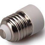 Luminosa E27vers E14Douille de lampe adaptateur convertisseur support pour LED halogène économie d'énergie Edison Smart ampoule (lot de 2adaptateurs)/convertir Grande Vis Douille E27vers Petite Vis E14Douille lampe adaptateur convertisseur/Certifié C image 1 produit
