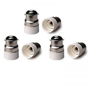 Lumière B22vers E14adaptateur Douille convertisseur de base, BC Cap B22vers E14Culot à vis Edison ES ampoule lampe Base Socket Converter Extender adaptateur support de montage, 6-Pack 250.0 volts de la marque FINELED image 0 produit