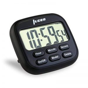 LUOEM Minuterie de Cuisine Magnétique Numérique 24 Heures Minuterie de Cuisine avec grand écran LCD et Alarme Minuteur Fort Anneau de la marque LUOEM image 0 produit
