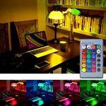 LUXJET LED Ampoules de couleur,10W E27 RGBW Ampoule Led,Changement de Couleur Télécommande, Dimmable RGB+lumière du jour Blanc(6500K)[Classe énergétique A+] (2er Pack) de la marque LUXJET image 1 produit