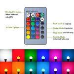 LUXJET LED Ampoules de couleur,10W E27 RGBW Ampoule Led,Changement de Couleur Télécommande, Dimmable RGB+lumière du jour Blanc(6500K)[Classe énergétique A+] (2er Pack) de la marque LUXJET image 2 produit
