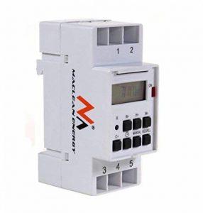 Maclean Programmateur horaire électrique hebdomadaire à affichage numérique pour rail DIN 16A 220V de la marque Maclean image 0 produit