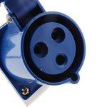 MagiDeal 2pcs 3 Broches Adaptateur Prise Murale de Surface Inclinée 220 - 250v 2p + E Etanche IP44 32A avec Adaptateur Prise IP44 220V-240V 32A de la marque MagiDeal image 4 produit