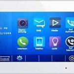 Maison individuelle AP Interphone dt607/FE/ID/S1180° Grand Angle + RFID + t47mg V2Pan Tilt Interphone vidéo 1moniteur blanc/Façade en verre mémoire de la marque Schick-Handel ® image 3 produit