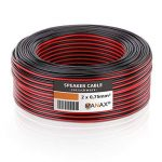 MANAX Câble de Haut-Parleur Câble de Haut-Parleur Rouge/Noir 2x 0,75mm², CCA Rouleau DE 50m de la marque MANAX image 2 produit