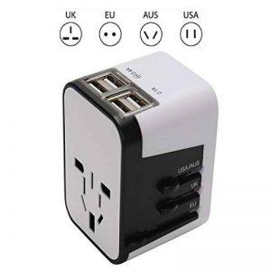 MANGETAL Adaptateur de voyage universel avec 4 prises USB Charge de voyage pour 150 pays par exemple Europe/USA/Australian/UK de la marque MANGETAL image 0 produit