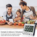 Merisny Minuteur de Cuisine Électronique, Minuterie Numérique 24 Heures avec Sonore Ecran LCD, Compte à Rebours Support Aimanté - Blanc (Batterie Incluse) de la marque Merisny image 4 produit