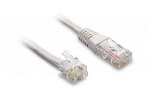 Metronic 495229 Câble Téléphone Ethernet - RJ45/RJ11 - Mâle/Mâle- 10m - Blanc de la marque Metronic image 0 produit