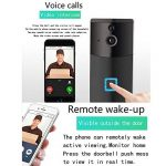 MIAO@LONG WiFi Smart Sonnette Visuelle 720P HD Caméra De Sécurité À Domicile avec Carillon Et Batterie avec Un Récepteur Intérieur (Noir) de la marque MIAO@LONG image 3 produit