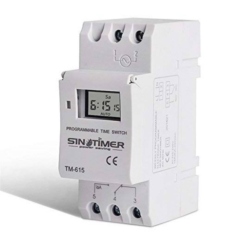 Blanc Montage sur rail DIN pour appareils /électriques 7 jours Programmateur num/érique programmable SINOTIMER CA 110V Hebdomadaire Relais de contr/ôle