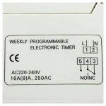 Minuterie Programmable numerique - SODIAL(R)DIN Rail Digital LCD puissance minuterie Programmable AC 220V 16 a temps relais commutateur de la marque SODIAL(R) image 4 produit