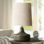 MLSH Lampe de table Lampe de table en céramique moderne Creative Simple lampe de bureau Lampe en lin Couverture de table Lampe de protection des yeux Lampe de lecture (Color : D) de la marque MLSH image 3 produit