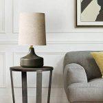 MLSH Lampe de table Lampe de table en céramique moderne Creative Simple lampe de bureau Lampe en lin Couverture de table Lampe de protection des yeux Lampe de lecture (Color : D) de la marque MLSH image 2 produit