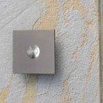 MOCAVI RING 110 sonnette design en acier inoxydable, plaque de sonnette carrée avec un bouton de sonnette rond de la marque MOCAVI image 2 produit