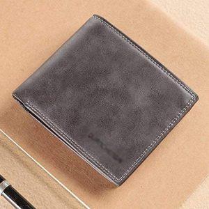Money Clip-Mens noir argent Clip Wallet Slim Leath Money Wallet porte-monnaie Multi-Card Wallet jeunesse Cross-section Portefeuille du conducteur ( Color : Gray , Size : 11.5*9.5*1.5cm ) de la marque Chi Cheng Fang Electronic business image 0 produit