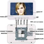 Mot De Passe RFID Contrôle D'accès 7''inch Filaire Système De Porte Vidéo Visuel Interphone Vidéo Moniteur De Sonnette Kit de la marque YL-Light Sonnette image 2 produit