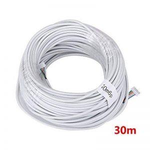 Mountainone 15m 2,54* 6P 6fils câble pour interphone vidéo couleur vidéo Porte Téléphone Sonnette interphone avec fil câble de la marque MOUNTAINONE image 0 produit