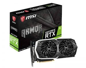 MSI RTX2070 Armor 8G Carte Graphique Nvidia RTX2070 1620 MHz 8 Go PCI Express de la marque MSI image 0 produit