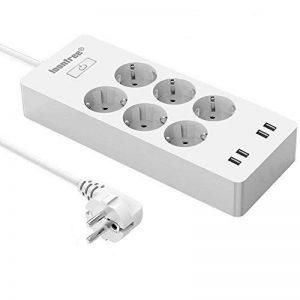 Multi-Socket avec protection contre les surtensions Loonfree avec 6 prises 4 ports USB, Alexa ECHO / Smart Home Control Timer, APP à distance via IOS Android Smartphone de la marque LOONFREE image 0 produit