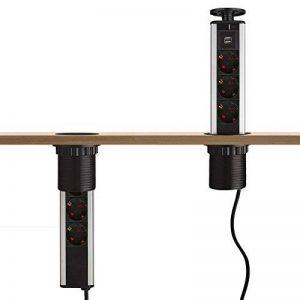 Multiprise avec 2 USB-5V DC-1A(2X0,5A)-3 Prises de Courant-250V AC-16A(4000W MAX) à la Norme Européenne-Dazone®-Noir de la marque Dazone image 0 produit