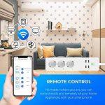 Multiprise Intelligente, GBlife Prise Connectée WIFI Compactible avec Alexa/Google Home/IFTTT, Protection contre Surcharge, 4 Ports USB et 3 Fiches 3/4 Indépendants Contrôle Vocal pour iOS Android (MEROSS MSS425E) de la marque GBlife image 3 produit