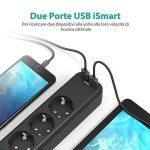 Multiprise électrique prises USB RAVPower avec 4prises et 2ports USB iSmart avec câble de 1,5m et supports inférieurs pour la fixation au mur, sortie totale de 3.1A, noir, IT RP-PC010 de la marque RAVPower image 1 produit