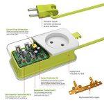 Multiprise Parasurtenseur/parafoudre 1 Strip avec 4 Ports USB de Voyager Recharge, Cordon 1.5 mètres 1 Outlet Power Strip avec 4 Ports USB de Recharge avec Un QC3.0 USB de la marque Simpfun image 1 produit