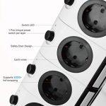 Multiprise Parasurtenseur, SAFEMORE Parafoudre avec 14 Prises de Recharge et 4 Ports USB (4,2A) + Protecteur de Surtension 2100J, Prolongateur Rallonge électrique 6,5 Pieds,Porte Sécuritaire,Interru de la marque SAFEMORE image 2 produit