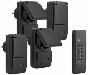 mumbi Lot de 4Prises télécommandées–4x Prise d'extérieur pour extérieur + 1x télécommande–Plug & Play–1100W de la marque Mumbi image 0 produit
