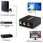 Musou Mini Convertisseur 3RCA Composite CVBS AV vers HDMI Adaptateur pour ps3 Xbox Xbox360 Blu Ray Sky HD VHS VCR DVD DVR HDTV 720P/1080P de la marque Musou image 2 produit